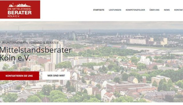 Neuer Internetauftritt der Mittelstandsberater Köln e.V.